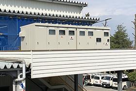 停電に備え受電変圧施設の高床化
